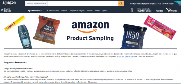 Amazon Product Sampling