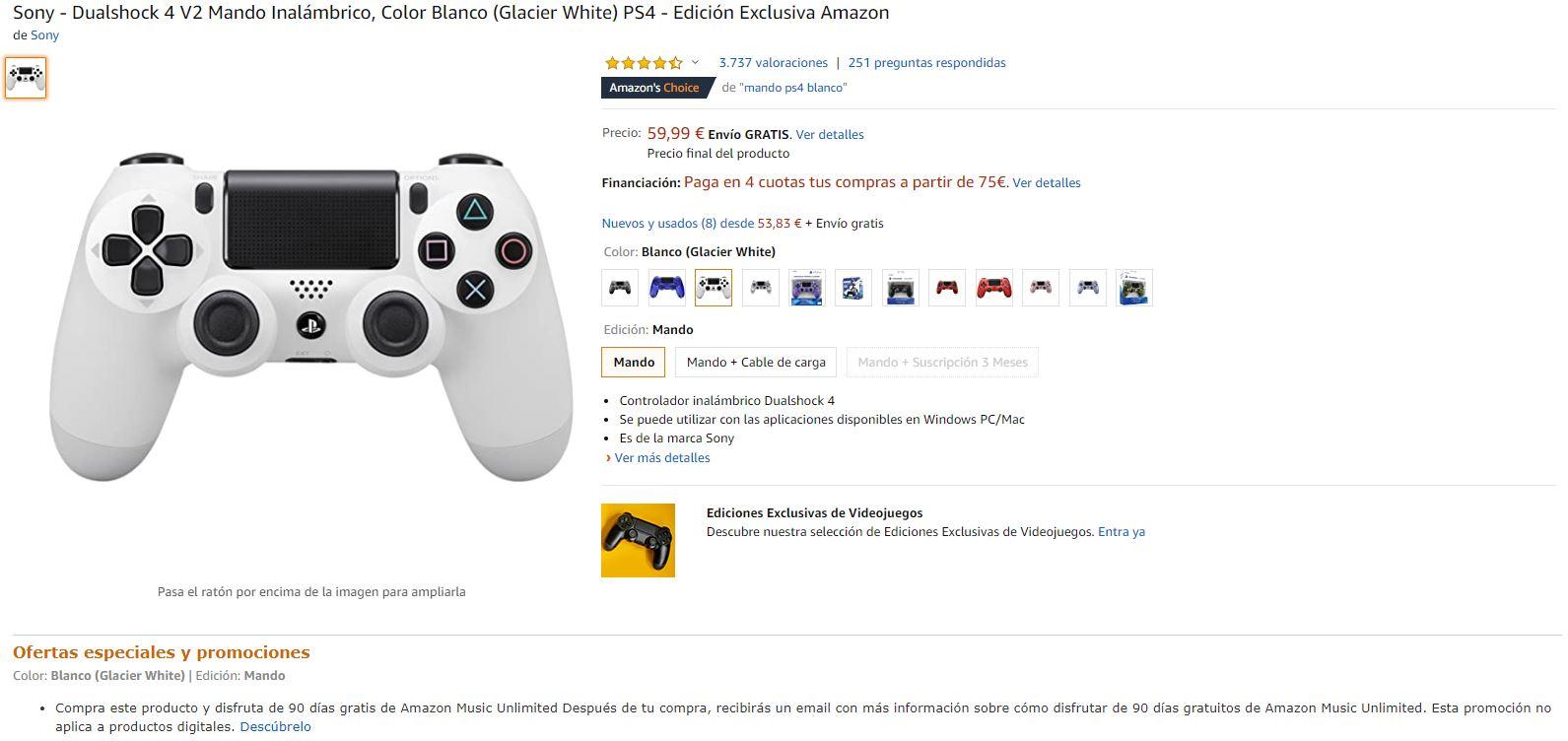 Product Listings en Amazon