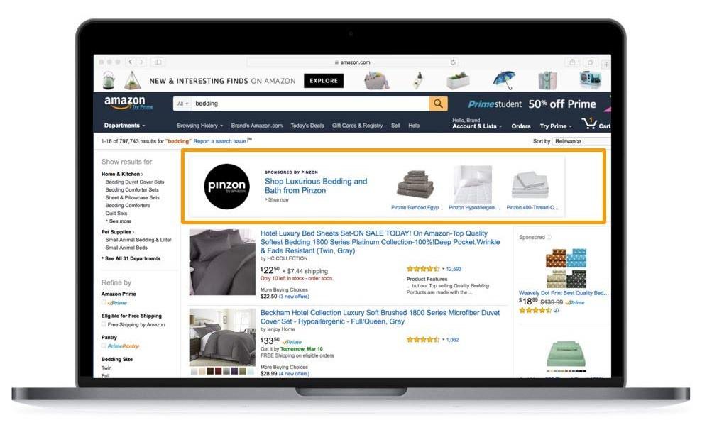 Publicidad en el marketplace de Amazon