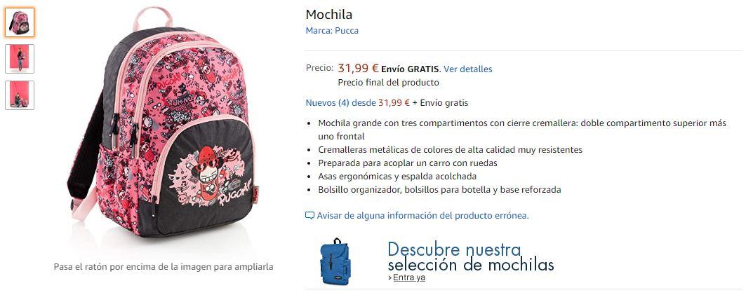 Ejemplo de producto escolar en Amazon