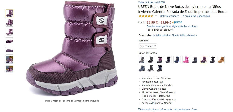 Ejemplo de imágenes de producto en Amazon