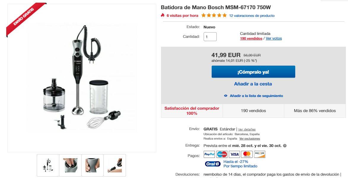 Ejemplo de buena fotografía de producto en eBay